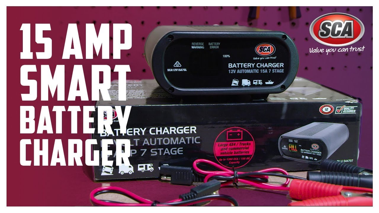 SCA Battery Charger - 7 Stage, 12V, 15 Amp
