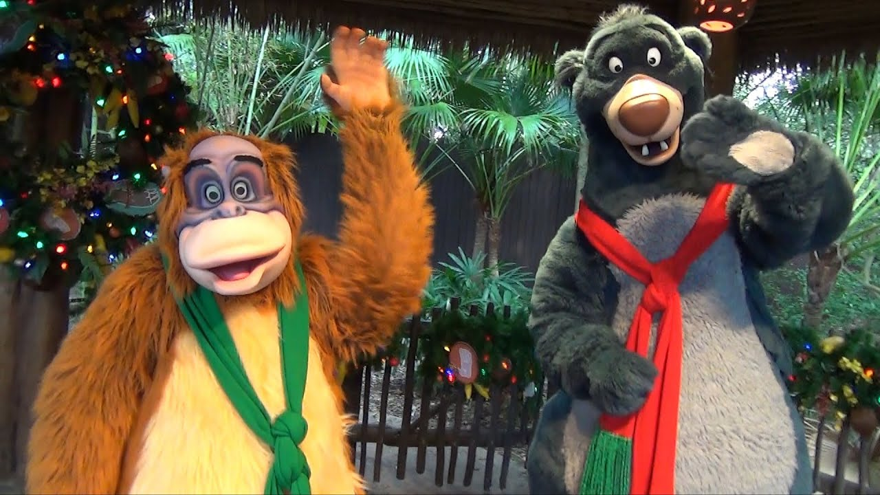 Baloo And King Louie Greet Us On Last Day Of Camp Minnie Mickey At