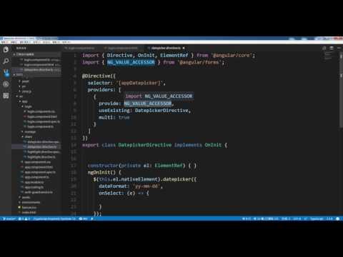 Angular2小記(2) - datepicker與ngModel