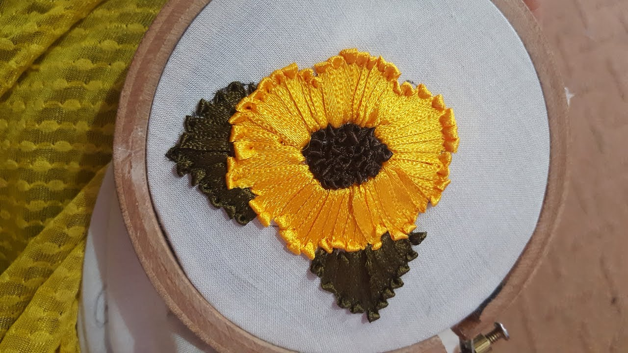 Hand Embroidery Ribbon Flowers Stitches By