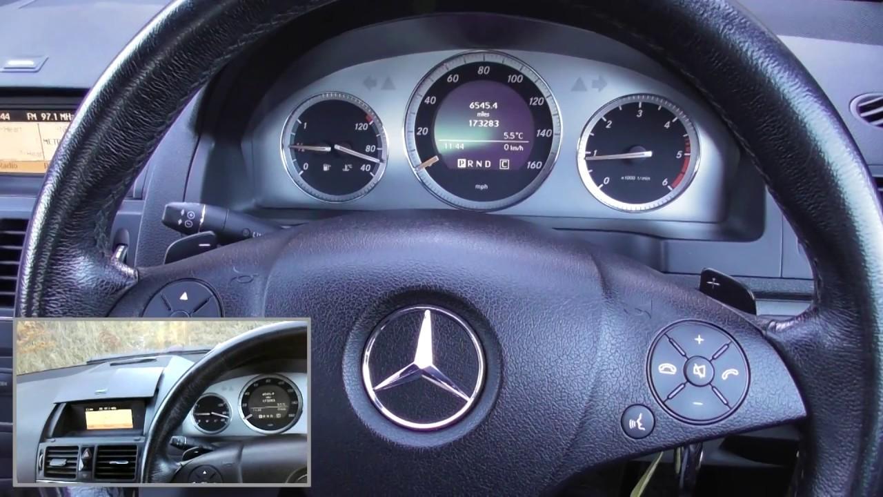 Mercedes C Class W204 Dash Warning Lights On Engine Start
