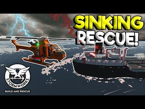 SINKING SHIP RESCUE MISSION! - Stormworks: Build And Rescue Gameplay - Sinking Ship Survival