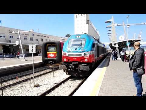 The Beit She'an train enters the station of Haifa. Israel