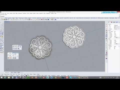 Как сделать выпукую модель под эмаль без искажений в Rhinoceros. J-design.pro
