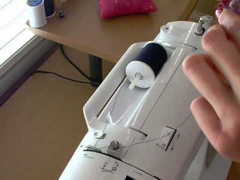 HOW TO Wind A Bobbin Using A Singer Sewing Machine YouTube Enchanting How To Thread Bobbin On Singer Sewing Machine