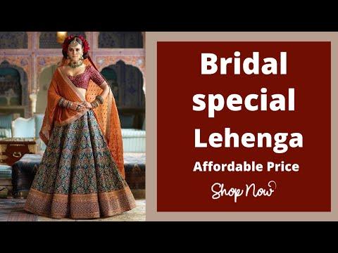 Bridal Lehenga Choli Designs, Latest Lehenga Haul,designer Lehenga For Wedding   JOSH INDIA Haul