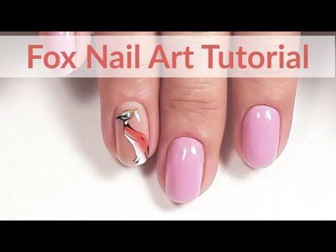 Inspired Autumn Fox Nail Art Tutorial thumbnail