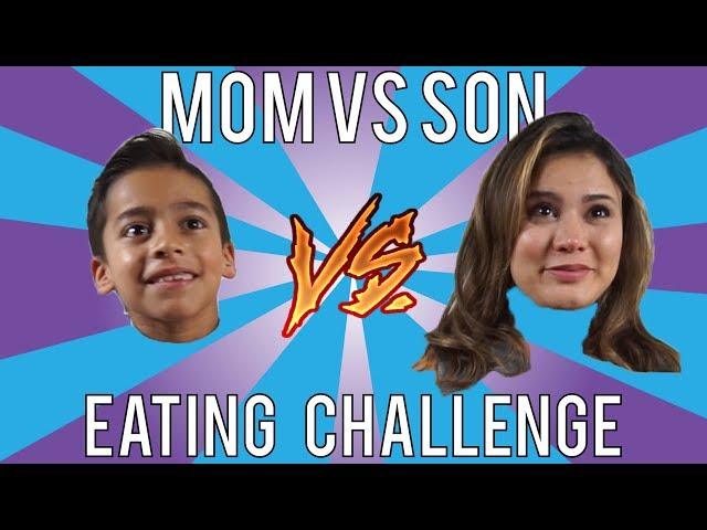 Mom Vs Son EATING CHALLENGE! ANDREA ESPADA VS KING FERRAN!!! LOSER GET PIE IN FACE