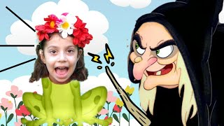 Beautiful Juvenile Rose has been turned into a frog by the evil witch !! Kids music