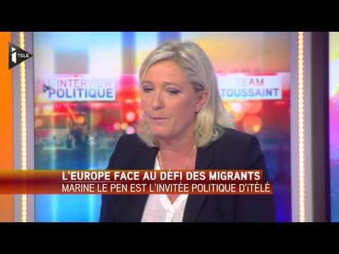 """Marine Le Pen """"Le droit d'asile est devenu une filière d'immigration clandestine"""""""