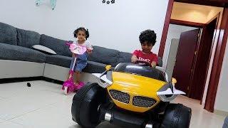 تحدي سكيت لمار ضد سيارة أنس الكبيرة شوفوا من اللي فاز