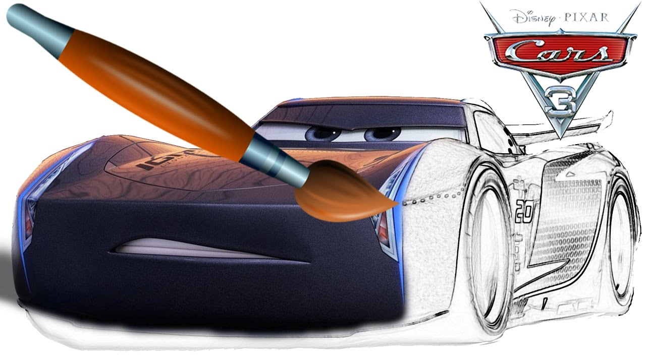 Jackson Storm new character cars 3  Coloring Book  Pages Video