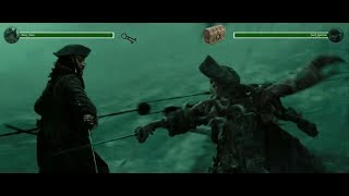 Davy Jones Vs Jack Sparrow (Part 1) With Health Bars (Pirates Of The Caribbean 3)