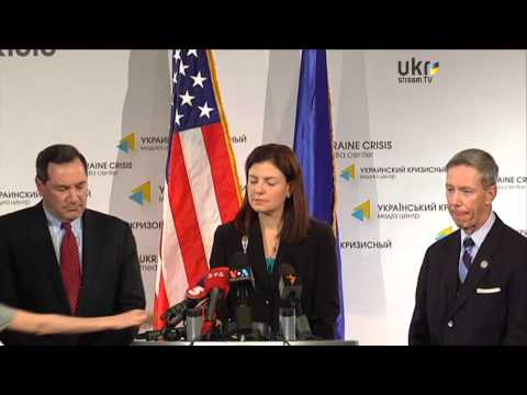 Kelly Ayotte, Joe Donnelly, Stephen F. Lynch. Ukraine Crisis Media Center. March 23, 2014