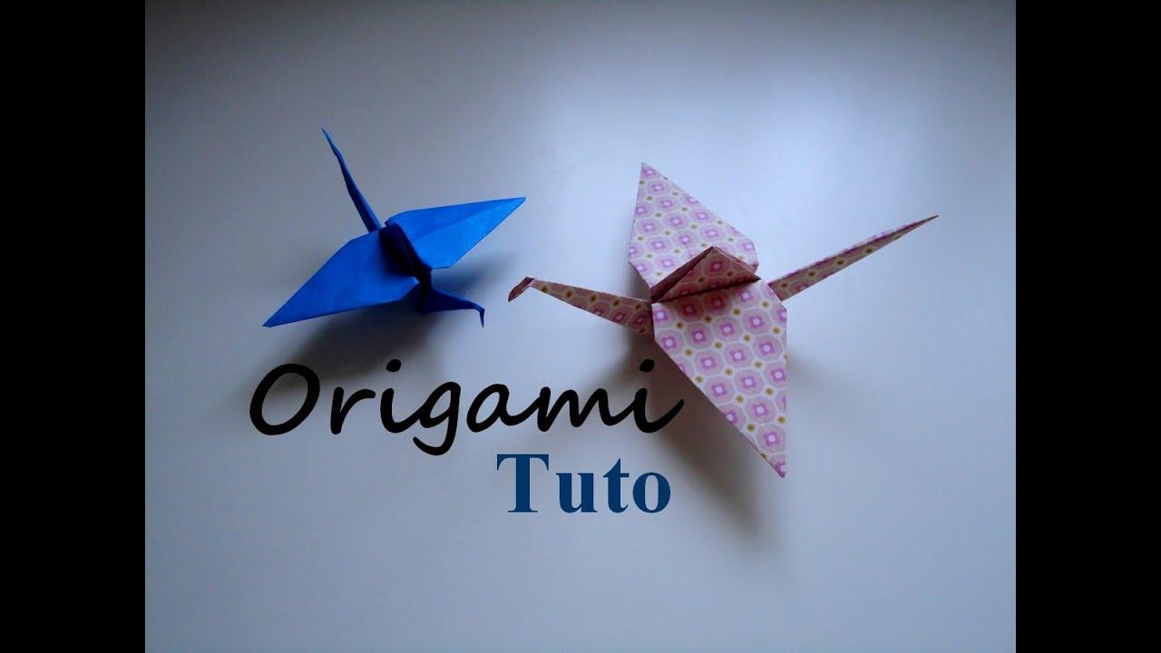 Tutoriel origami grue origami crane tutorial youtube for Crane tutorial