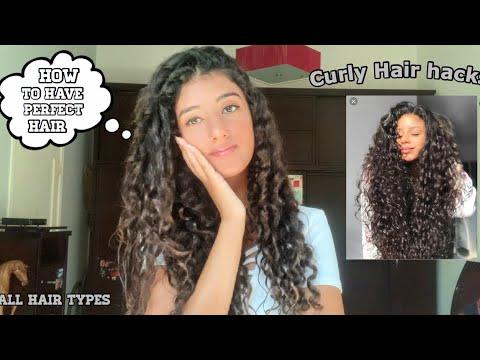أهم نصائح لكل أنواع الشعر الشعر الكيرلي Hair Hacks Every Girl Should Know Youtube