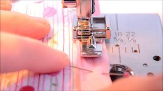 Invisible zipper installation using a regular zipper foot