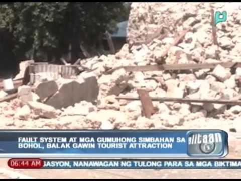 Balitaan: Fault system at mga gumuhong simbahan sa Bohol, balak gawin tourist attraction