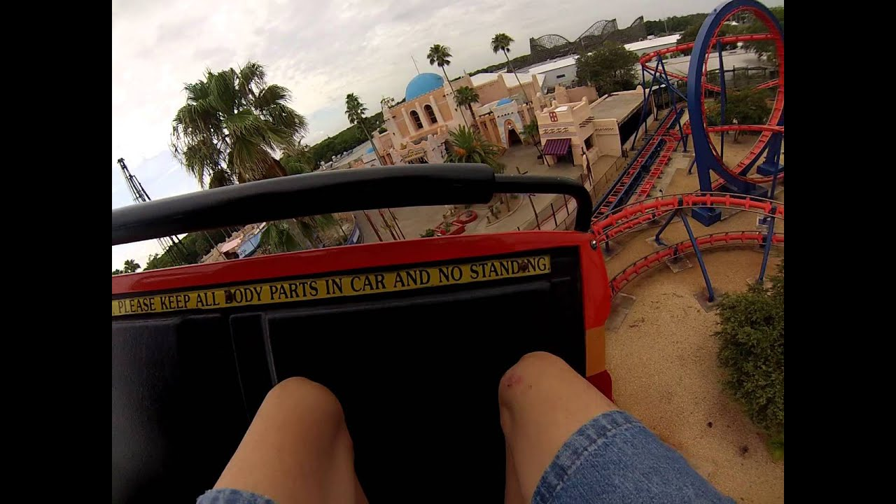 Scorpion Front Seat on-ride POV Busch Gardens Tampa - YouTube