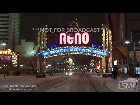 1-7-2019 Reno, Nv heavy snow, car wipes out on I-580, terrible driving conditions heavy snow