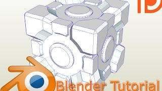 Blender tutorial Weighted Companion Cube papercraft easy