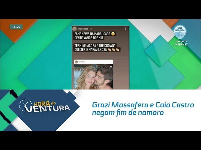 Grazi Massafera e Caio Castro negam fim de namoro