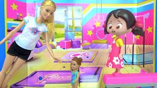 Niloya ve Barbie Jimnastik Spor Challenge yapıyor Oyuncak Ranza Niloya bebek Oyuncak tanıtımı yaptık