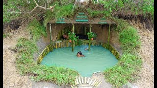 Dig Land  build  Underground House and  Swimming Pool