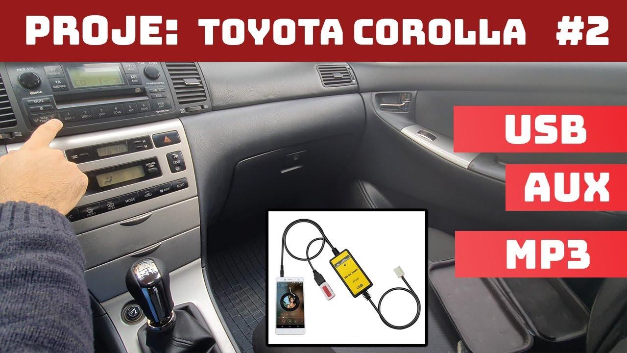 Toyoto Corolla Aux ve Usb Uygulaması | Proje: Toyota Corolla | #2