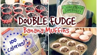 Healthy Snack Ideas! | Double Fudge Banana Muffins Thumbnail