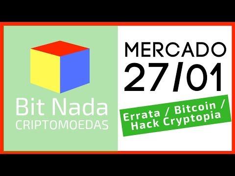 Mercado de Cripto! 27/01 Errata Grin e Beam / Bitcoin / Detalhes do hack Cryptopia