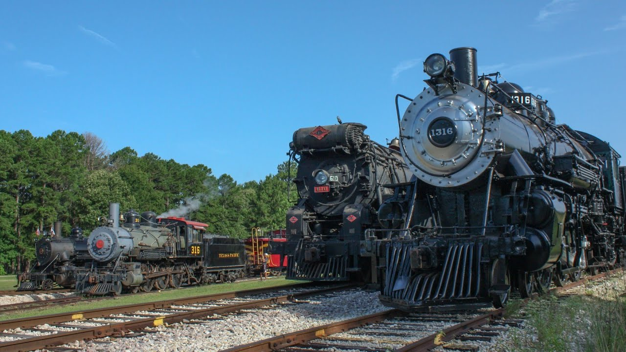 Lone Star Steam: Texas State Railroad 4th of July Weekend!