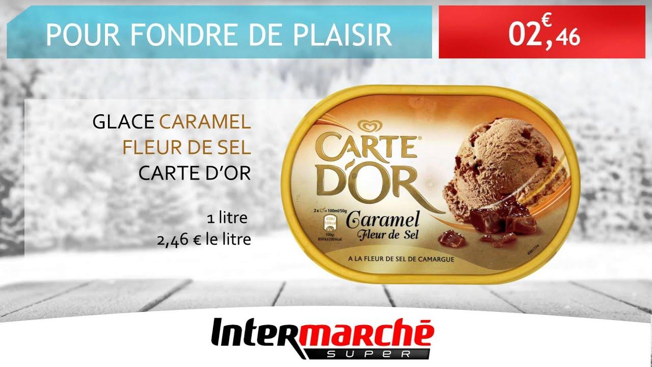 Glace Caramel Fleur De Sel Carte D Or Intermarche Diffuzion