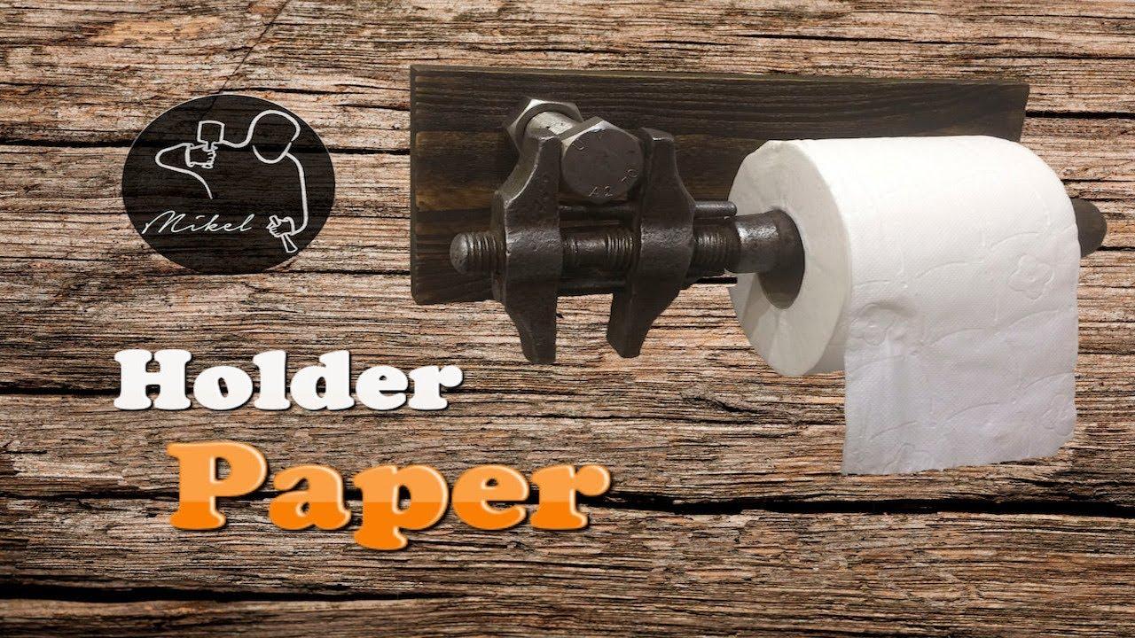 toilet paper holder diy youtube. Black Bedroom Furniture Sets. Home Design Ideas