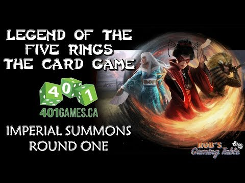 Legend of the Five Rings - Imperial Summons @ 401 Games (Round 1)