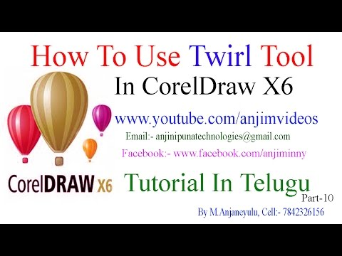 CorelDraw X6 Tutorial In Telugu Part-10 | How To Use Twirl Tool In CorelDraw X6 In Telugu