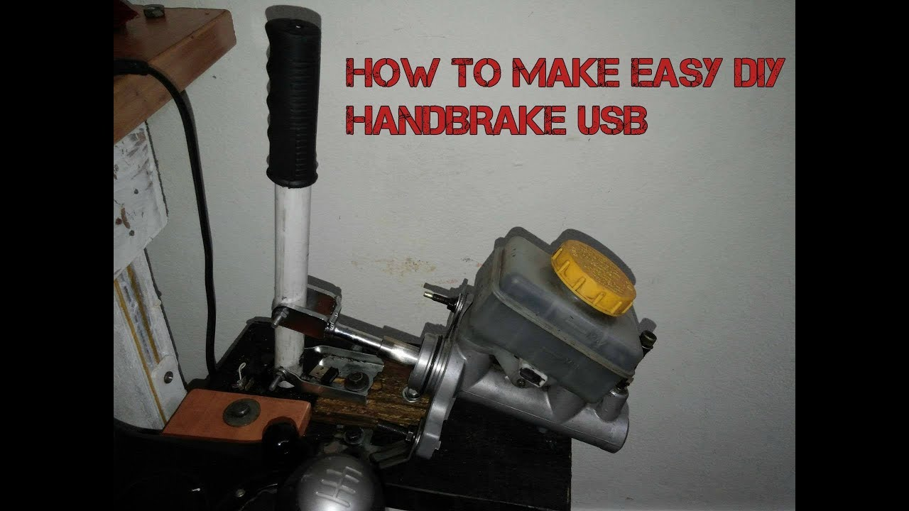 How To make easy USB HANDBRAKE With a Brake Master Cylinder( /SIM RACING  /DIY / E-BRAKE