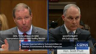 Exchange between Sen. Udall & EPA Administator Pruitt (C-SPAN)