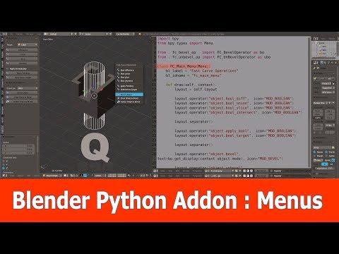 Blender Python Addon : Menus - YouTube