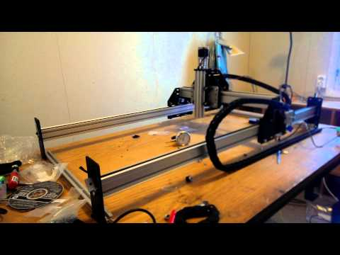 ShapeOko Y+X axis travel with cable drag carrier