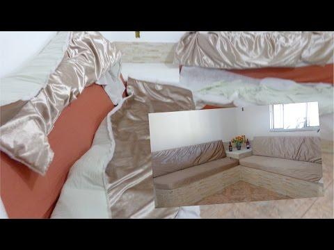 fd0a63af6f5e55 Corte e costura Acento Encosto e Capa do sofá de tijolo com ...