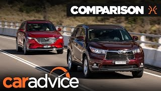 Comparison: 2017 Mazda CX-9 v Toyota Kluger (Highlander) | CarAdvice