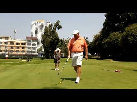 8th Hole Graham Atkinson Par Putt Asia Pattaya Golf Course Thailand