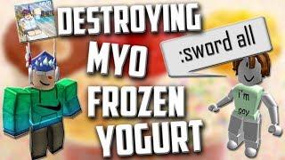 ROBLOX destruindo Myo frozen yogurt (abuso de administrador)