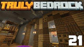 Underground Farming & Secret Tunnels! - Truly Bedrock - S1 E21 - Minecraft SMP