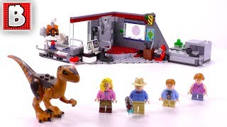 LEGO Jurassic Park Velociraptor Chase Review! | Set 75932 LEGO Jurassic Kingdom 2018