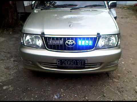 Toyota kijang with Whelen siren n strobo grill