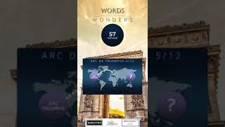 WORDS OF WONDERS ARC DE TRIOMPHE Level 1 2 3 4 5 6 7 8 9  10 11 12