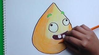 Dibujando y coloreando Palomita de Maiz (Plantas vs Zombies) - Drawing and coloring flies Corn