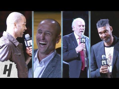 Tony Parker, Gregg Popovich & Tim Duncan Speeches at Manu Ginobili Retirement Ceremony